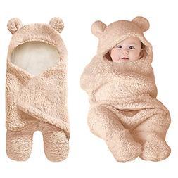 XMWEALTHY Cute Newborn Baby Boys Girls Blankets Plush Swaddl