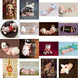 Cute Newborn Boys Girl Crochet Knitted Baby Outfits Costume