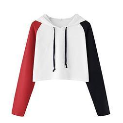 Cute Womens Sweatshirt,KIKOY Girls Long Sleeve Hoodie Tops P