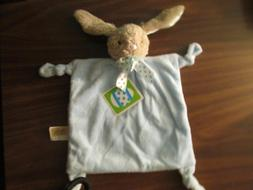 Dandee Blue Bunny Rabbit Security Blanket Easter Lovey Rattl