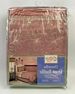 Cocalo Daniella TWIN Dust Ruffle Bedskirt Mauve new in pkg