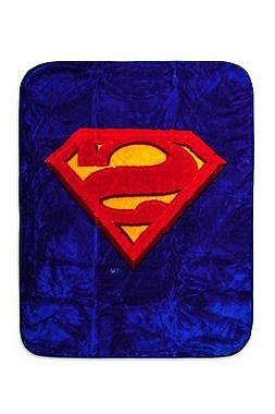 DC Superman Logo Luxury Royal Plush Baby Size Blanket Super