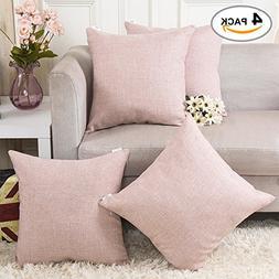 HOME BRILLIANT Burlap Decoration Supersoft Linen Cushion Cov