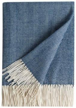 Decorative Herringbone Faux Cashmere Fringe Throw Blanket Li