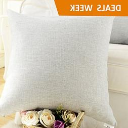 HOME BRILLIANT Decorative Lined Linen Square Throw Cushion C