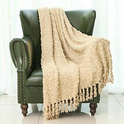Mika Home Decorative Sofa Couch Chair Throw Blanket Solid Po
