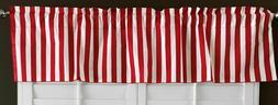 "Decorative Stripe Poly Cotton Curtain Valance Panel, 58"" Wid"