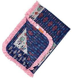 Dear Baby Gear Deluxe Baby Blankets, Custom Minky Print Drea