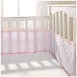 BreathableBaby Deluxe Breathable Mesh Crib Liner, Pink