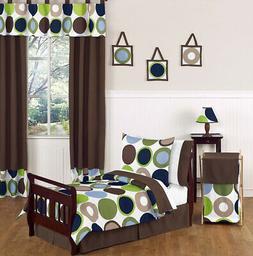 Designer Dot Modern Kids Boy Toddler Bedding 5pc Set