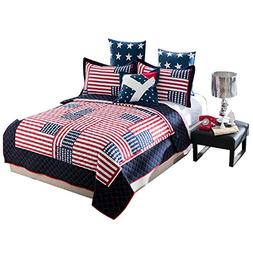 Brandream Designer Patriotic Bedding For Teen Boys Girls Ame