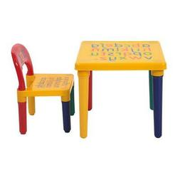 Desk Chair Kids Table Set Play Study Children Activity Furni