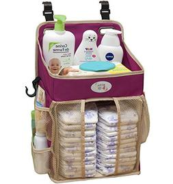 Baby Diaper Caddy and Nursery Storage Organizer - Hard Plast