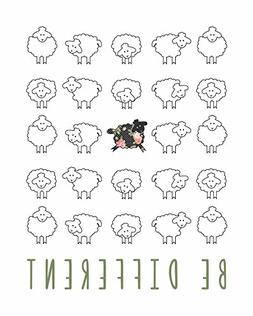 Be Different, Little Lamb Children's Wall Art Print 16x20 In