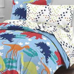 4pc Dinosaur Tracks Toddler Bedding Set Dino Footprints Comf
