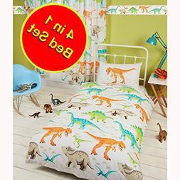 Rapport Dinosaur World 4 in 1 Junior/Toddler Bedding Bundle