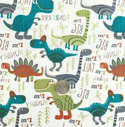 1 Yard Dinosaurs Bright Quilt Fabric