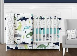Sweet Jojo Dinosaurs Turquoise Blue Grey White Girl Boy Baby