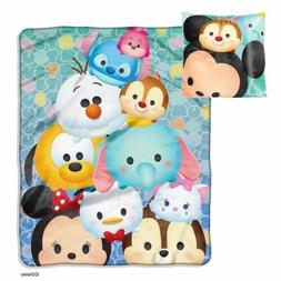 New Disney Tsum Tsum 123 Pillow and Micro Raschel Throw Set