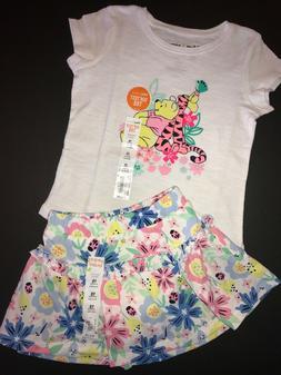 Disney $24 Pooh Tigger 18m Baby Girls Skirt Skort Shirt NWT