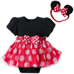 Disney Authentic Minnie Mouse Baby Bodysuit & Headband 3 6 9