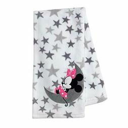 Disney Baby Minnie Mouse Gray/White Fleece Baby Blanket by L