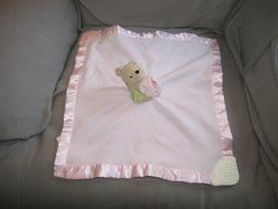 Disney Classic Pooh Bear Pink Security Blanket Lovey Rattle
