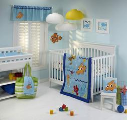 Disney Finding Nemo Dory Wavy Days 7 Piece Crib Bedding & Ba