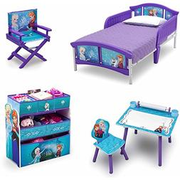 NEW! Disney Frozen 5 Set Room-in-a-Box Toddler Bed with Safe