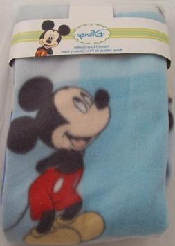 Disney Mickey Mouse Printed Fleece Blanket, Blue, Style #824