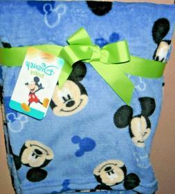 DISNEY MICKEY MOUSE super soft fleece BABY BLANKET! BLUE