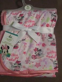 Disney Minnie Mouse Soft Fleece Baby Blanket-Printed Mink/Sh