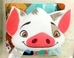 Disney Moana Pua Pig Nogginz Throw Blanket and Pillow Set