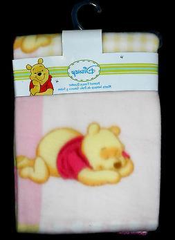 Disney Printed Fleece Blanket Girls Winnie the Pooh 38 X 28