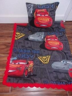 DISNEY'S CARS  BABY-TODDLER-BLANKET-FLEECE-CROCHET-EDGE &-PI