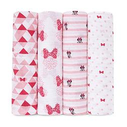 Disney Swaddleplus 4 Pack Graphic Minnie Swaddle Blankets