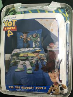 Disney Toy Story Woody Buzz Lightyear 4pc Toddler Bed Set Ki