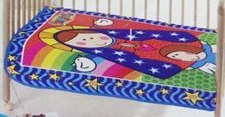 Distroller La Virgencita Baby Crib Blanket Multi-Color Soft