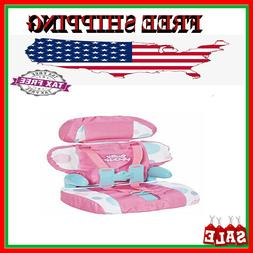 Doll Toy Chair Stroller Car Seat Girls Pink Dot For Reborn Baby Doll Seat Belt