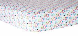 Trend Lab Dot Crib Sheet, Cupcake