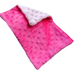 WOMHOPE 12.6in x 19.6in - Double-sided Soft Minky Dot Baby P