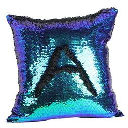 Hatop Double Color Glitter Sequins Throw Pillow Case Cafe Ho
