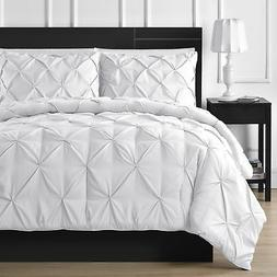 Comfy Bedding 3-Piece Pinch Pleat Comforter Set All Season P