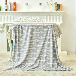 Towin Baby Double Layer Minky Throw Blanket/Bed Blanket/Couc