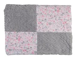Laura Ashley Double Sided Infant Patchwork Blanket, Chevron