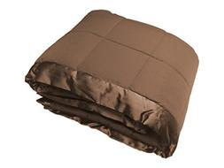 Cozy Fleece Down Alternative Blanket with Satin Trim, King,