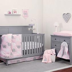 NoJo The Dreamer Collection Elephant Pink and Grey 9 Piece C