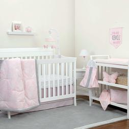 NoJo The Dreamer Collection Floral Pink/Grey 8 Piece Crib Be