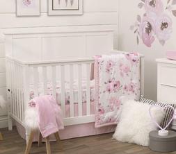 Nojo Dreamer Watercolor Floral   5 Piece Nursery Crib Beddin