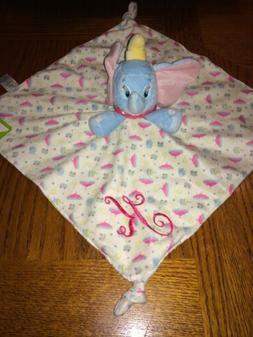 Dumbo Security Blanket Lovie NWT Monogrammed Pink K Lovey Di